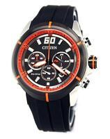Citizen Eco Drive Chronograph Mens Watch 100m Ca4105-02e Rubber Strap Uk Seller