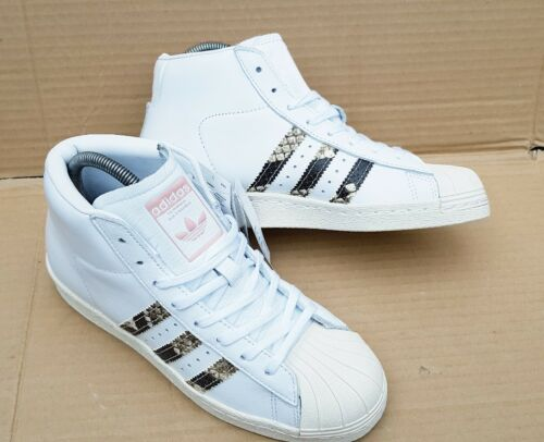 White 6 Adidas 5 80's New Snake Trainers Superstar Pro Model Size Bnwt Uk vfqxpBx