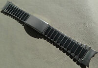 Timex Ironman Triathlon Stainless Steel Black 22mm Clasp Watch Band Round Ends