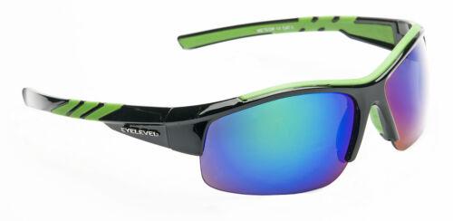 Mens Wrap Around Visor Mirror Sports Sunglasses Biker Shades Ski White Green