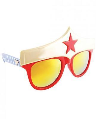 Sun Staches Wonder Woman Small Sunglasses Eye Glasses Mask Halloween DC Comics
