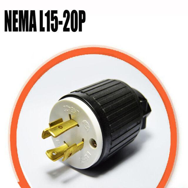 20A 250V 3-Phase Iron Box # IBX-L1520P NEMA L15-20P Power Cord Plug