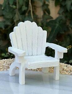 White Resin Adirondack Chairs.Details About Miniature Dollhouse Fairy Garden Sea Beach Mini White Resin Adirondack Chair