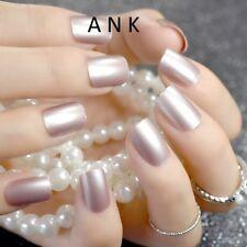 Health & Beauty Silver False Nails Stiletto Metallic Shiny Bling Fake Nail Tips Mirror Chrome