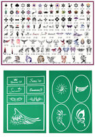 Ophir 107x Patterns Airbrush Stencils Tattoo Templates For Body Painting Art