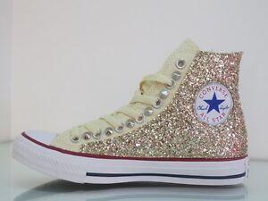 Converse Hi Star Beige Platino Glitter Borchie All qrrwCf
