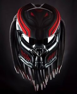 Image Is Loading Astronot Predator Helmet Motorcycle Dot Approved
