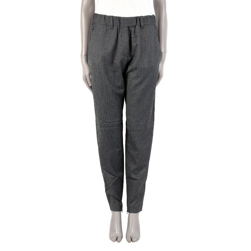 40261 auth ISABEL MARANT ETOILE grau polyester Taperot-Leg Pants 2 S