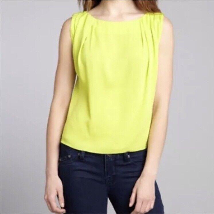 Alica And Olivia Sz XSmall  Lime Green Gladys Silk Sleeveless Top