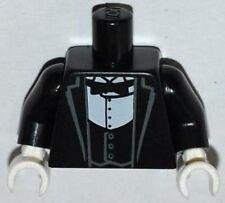 LEGO - Minifig, Torso Tux Jacket w/ Vest, White Shirt & Black Bow Tie - Black