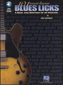 101 Must-savoir Blues Licks Guitare Tab Music Book With Audio Par Wolf Marshall-afficher Le Titre D'origine