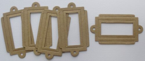2 Styles *EMBOSSED DECORATIVE BOOKPLATES* Frames Bare Chipboard Die Cuts