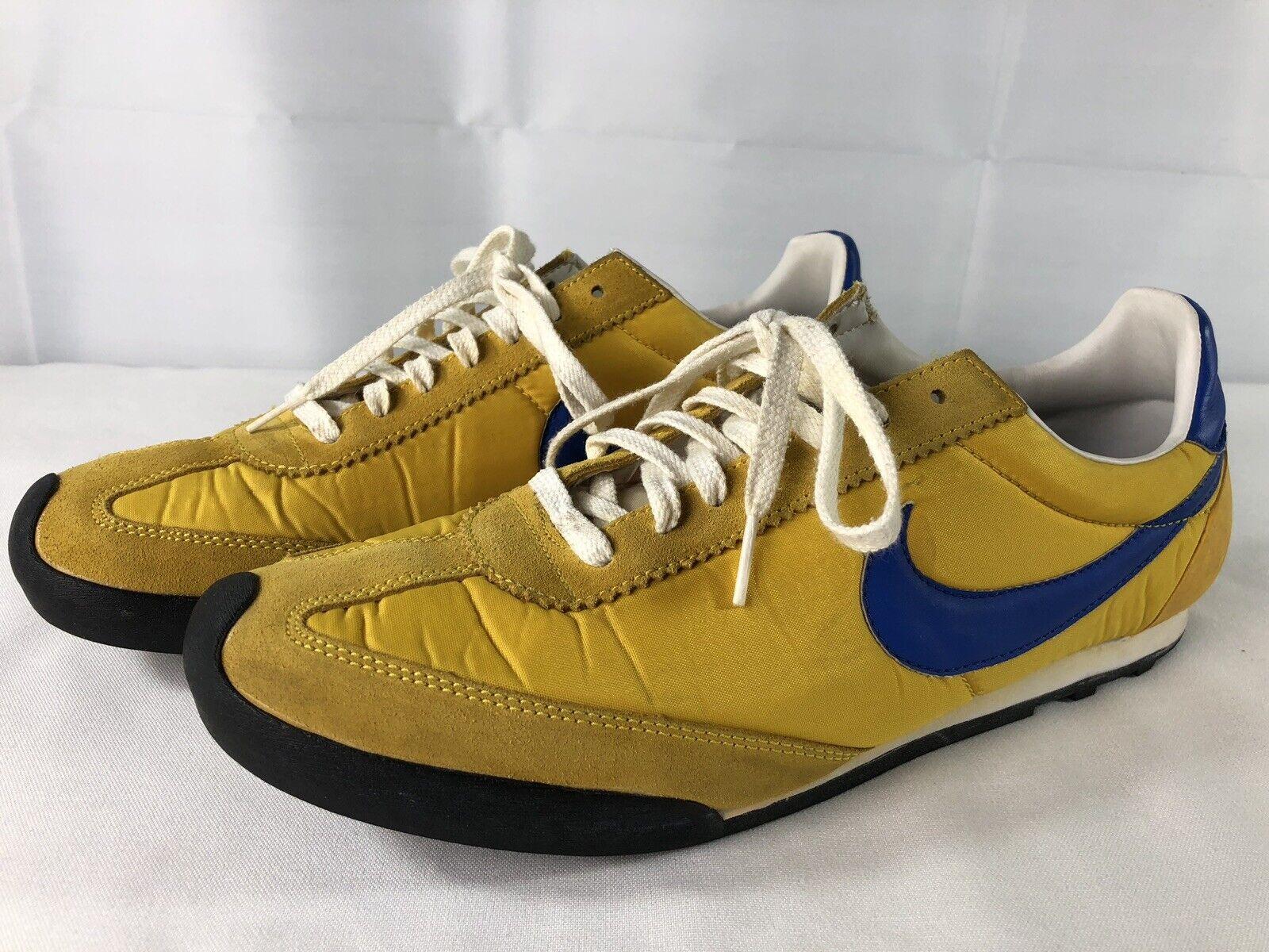 Nike Rockwaffle Size 11.5 Vintage Yellow bluee Rare 385452 741