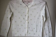 BONPOINT BABY CREAM AND SPARKLY GOLD CARDIGAN 3 YEARS