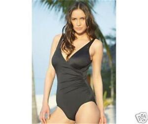 3b9e144f9f MIRACLESUIT WRAP BLACK D CUP ONE PIECE MIRACLE BATHING SWIMMING ...