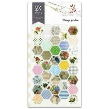 CUTE HONEY GARDEN STICKERS Paper Sticker Sheet Craft Scrapbook Seal Hexagon NEW