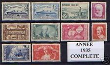 FRANCE STAMP ANNEE COMPLETE 1935 NEUVE xx LUXE , 10 TIMBRES , VALEUR: 718€  A188