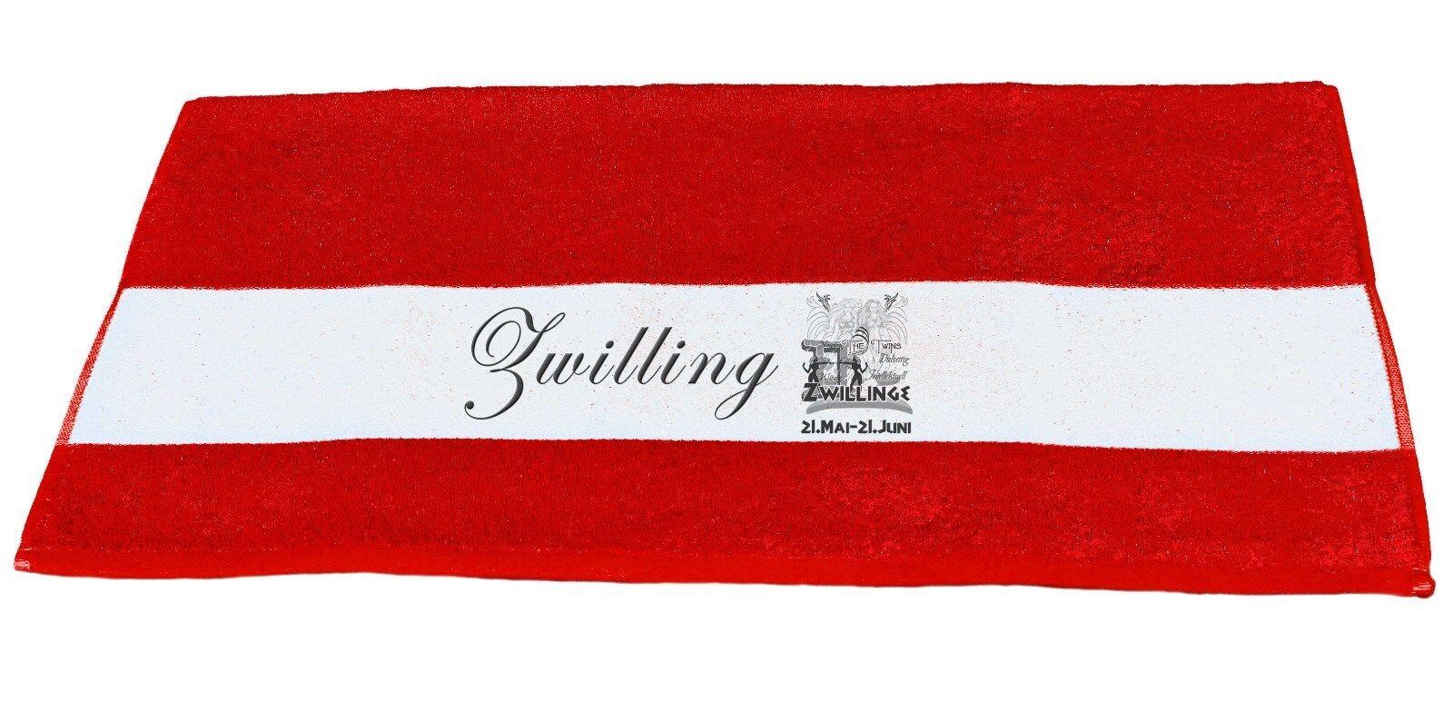 Badetuch,Handtuch,Duschtuch m. Sternzeichen  Zwilling    Charaktereigenschaften   Qualität und Quantität garantiert
