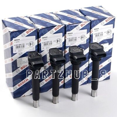 NEW Audi A3 VW CC Ignition Coil W //Spark Plug Connector OEM BOSCH 06H905115B