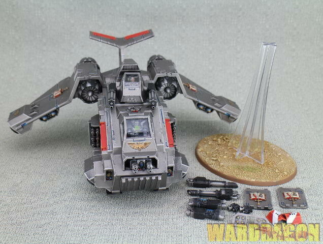 Warhammer 40K WDS  painted grigio Knight Stormraven Gunship i20  l'ultimo