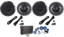 2 pairs of rockford fosgate r165x3 6 5 3 way car speakers amplifier
