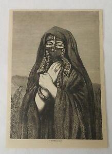 1884-Revista-Grabado-un-Egipcio-Senora-Egipto