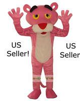 Professional Pink Panther Mascot Cartoon Costume Adult Size Fun Huge-us Seller