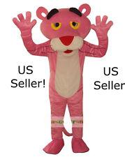 Professional Pink Panther Mascot Cartoon Costume Adult Size Fun Huge-US Seller!