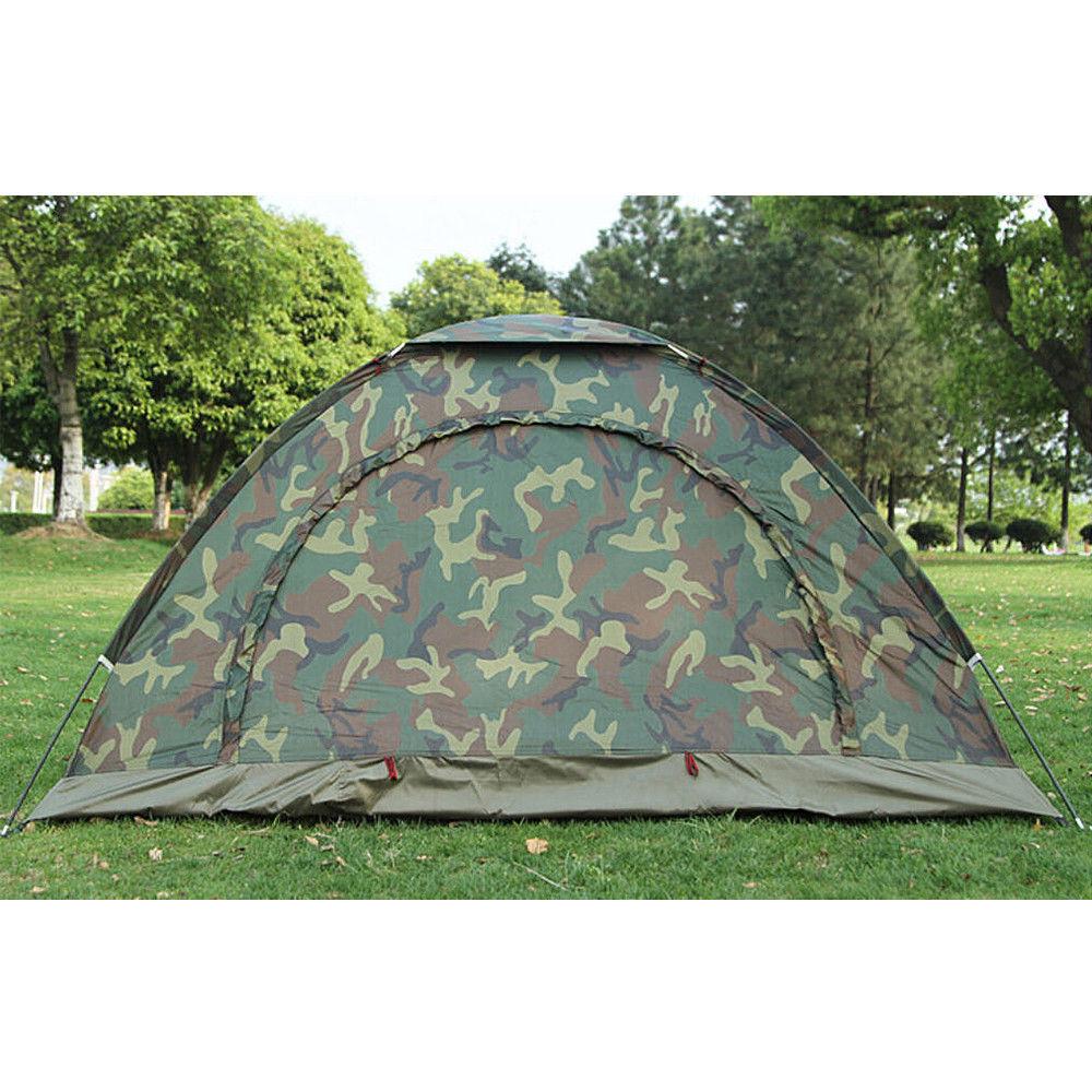 Doppelzelt Wurfzelt Camping Wasserdicht 2-3 3-4Personen Camouflage Trekking Zelt