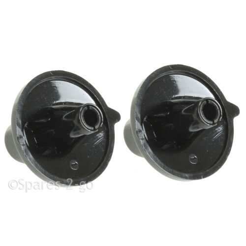 2 X BELLING Oven Hob Gas Control Knobs Black Cooker Flame Burner Switch Genuine