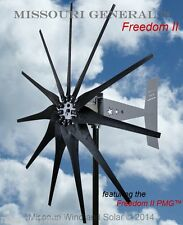 Missouri General Freedom II 48/96 volt 2000 watt max 11 blade wind turbine HD