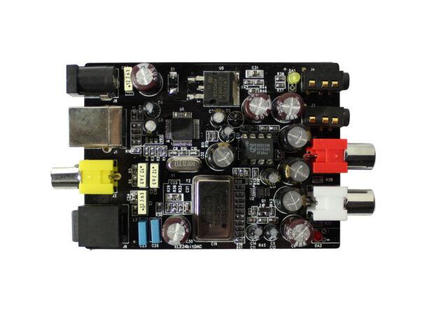 D07 24bit 192KHZ Fibra Óptica DAC USB Tarjeta De Sonido Usb Placa De Salida Coaxial de entrada