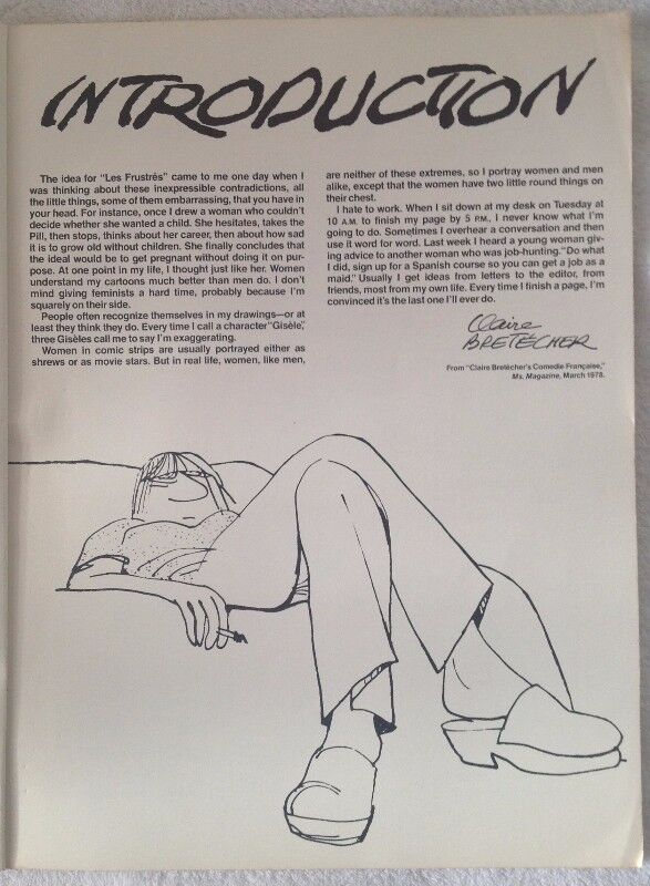 National Lampoon Presents Claire Bretecher 1978 Cartoons Other