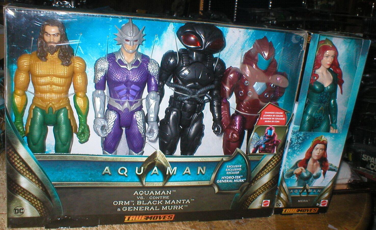 Aquaman película verdadero películas figuras-Aquaman, ORM, nero Manta, Murk & Mera