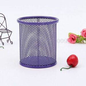 Mesh Metal Pencil Organizer Storage Office Desk Pen Holder