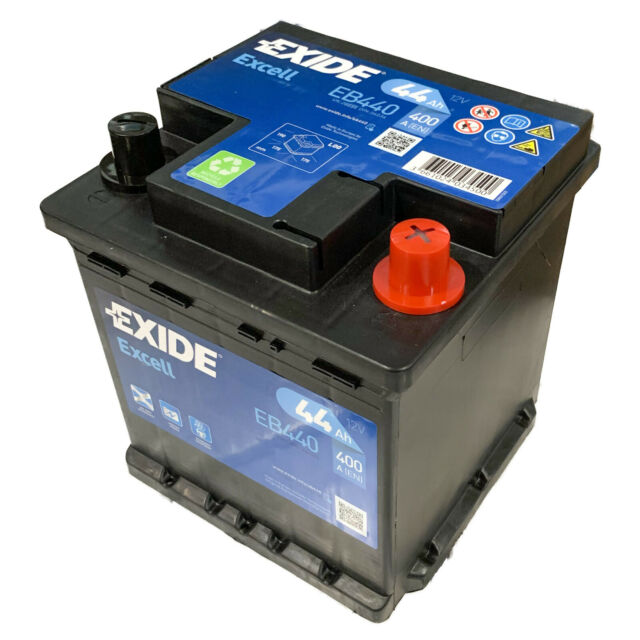 Batteria Auto Exide Eb440 44Ah 400A 12V 40 Cubetto Positivo DX Punto Panda 1.2