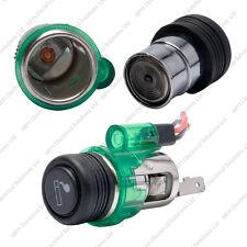 12v Illuminated Universal Power Socket & Cigar Cigarette Lighter Assembly