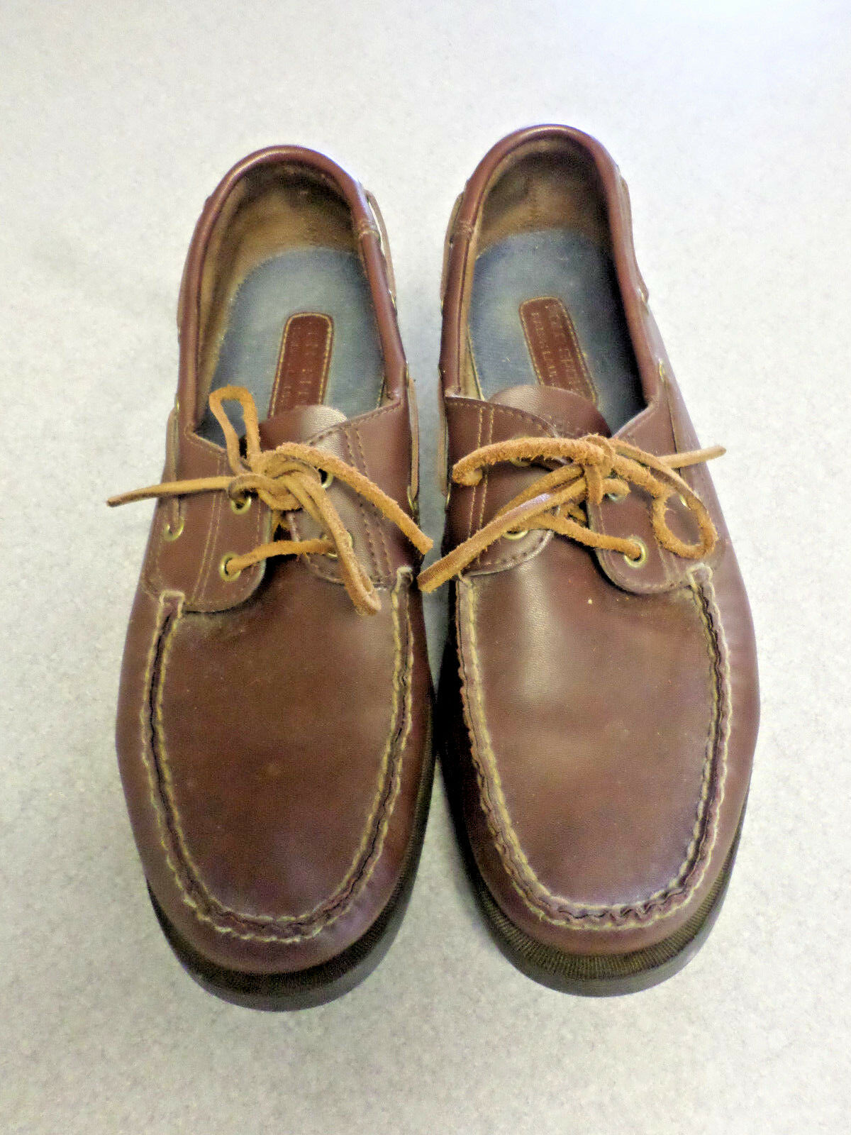 Polo Sport dark brown leather, boat shoes, Men's 11.5 D