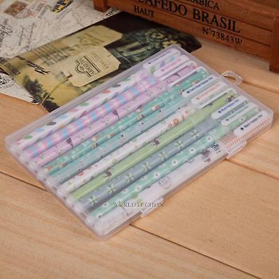 10PCS Cute Little Korean Stationery Watercolor Pen Gel Pens Set Color Kandelia 2