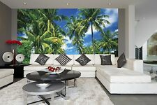 Photo Wallpaper TROPICAL ISLAND wall mural 366x254cm Green Jungle - Palms