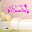 miniature 2 - Adesivo personalizzato nome tipo disney bambini stanzetta stickers murale