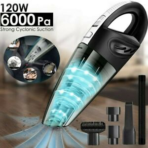 6000Pa Cordless Car Vacuum Cleaner Handheld Wet Dry Duster Rechargeable Home