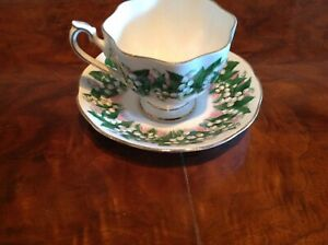Queen-Anne-Lily-of-the-valley-tea-cup-and-saucer