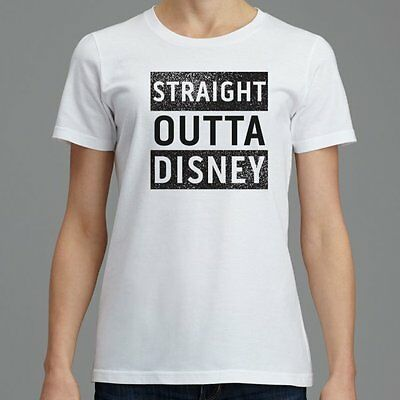 STRAIGHT OUTTA  DISNEY WORLD DISNEYLAND T-Shirt Top Womens S-XXXL Gift