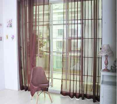 Tulle Voile Door Window Curtain Drape Panel Sheer Scarf Valances Divider