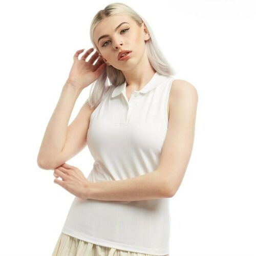 RRP £44.99 Choose Size Fred Perry Womens Racer Back Tennis Shirt White