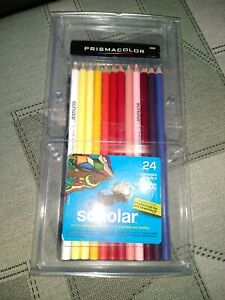 NEW Prismacolor Scholar 24 Student Colored Pencils #92805 ~ Assorted Color