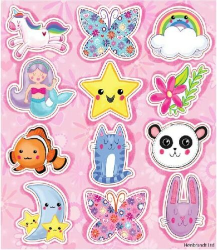 Kids Birthday Party Sticker Sheets Loot Bag fillers Favour Prizes Themed Gift
