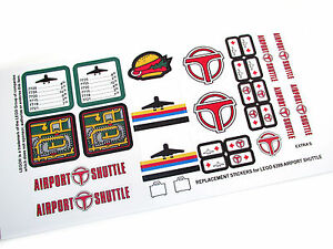 CUSTOM DIE CUT STICKERS For Lego AIRPORT SHUTTLE CUSTOM - Custom die cut stickers