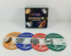 Emperor-Battle-for-DUNE-2001-PC-CD-ROM-Includes-4-Discs-and-CD-Key-Jewel-Case